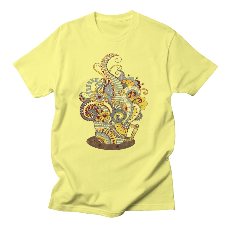 I Love coffee Men's Regular T-Shirt by NadineMay Artist Shop