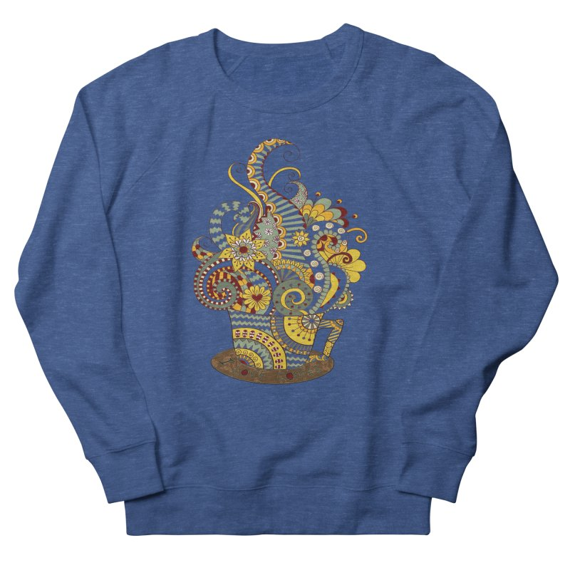 I Love coffee Men's French Terry Sweatshirt by NadineMay Artist Shop