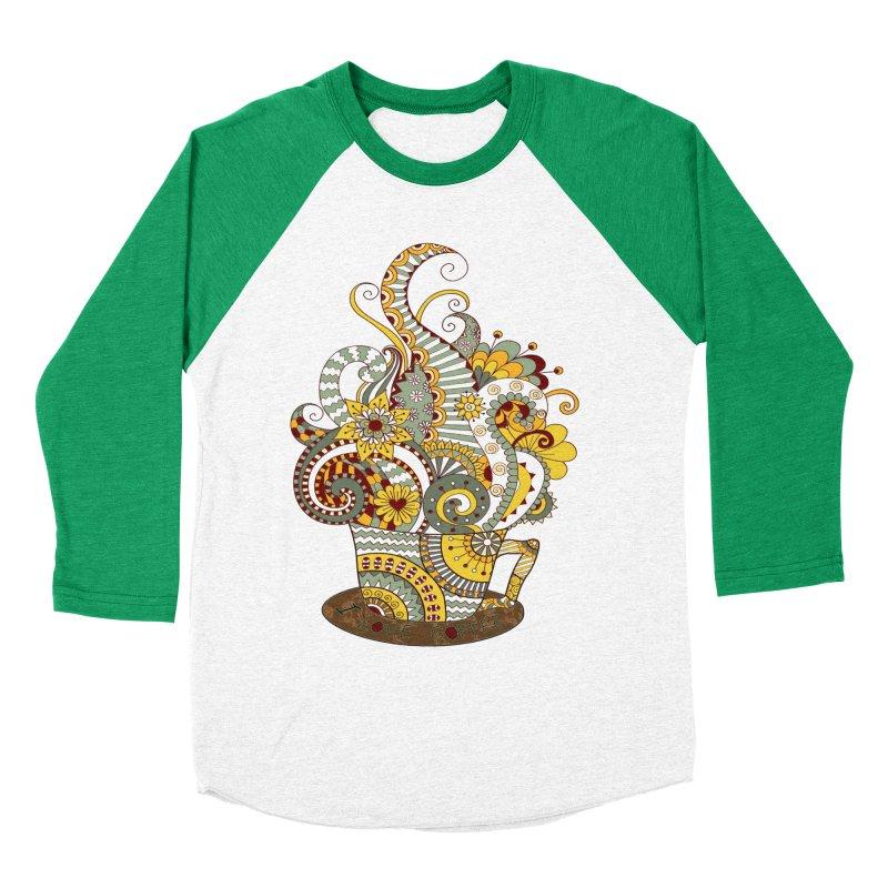I Love coffee Women's Baseball Triblend T-Shirt by NadineMay Artist Shop