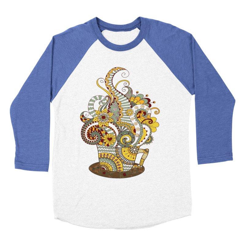 I Love coffee Men's Baseball Triblend T-Shirt by NadineMay Artist Shop