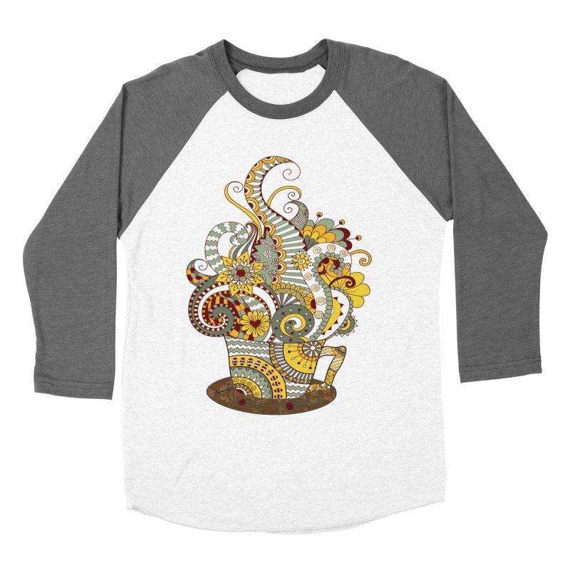 I Love coffee Men's Baseball Triblend Longsleeve T-Shirt by NadineMay Artist Shop