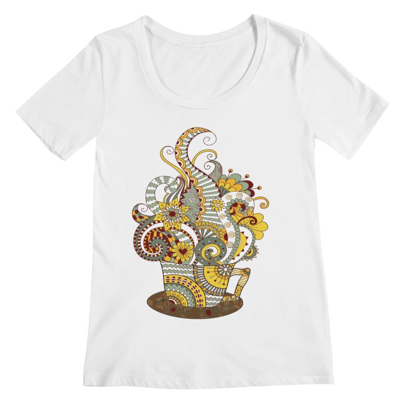 I Love coffee Women's Regular Scoop Neck by NadineMay Artist Shop