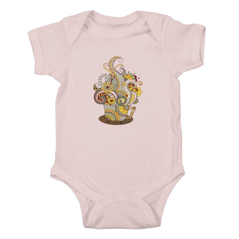 I Love coffee Kids Baby Bodysuit by NadineMay Artist Shop