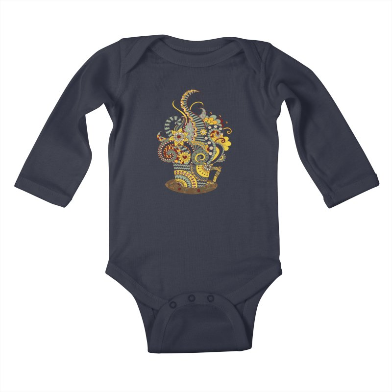 I Love coffee Kids Baby Longsleeve Bodysuit by NadineMay Artist Shop