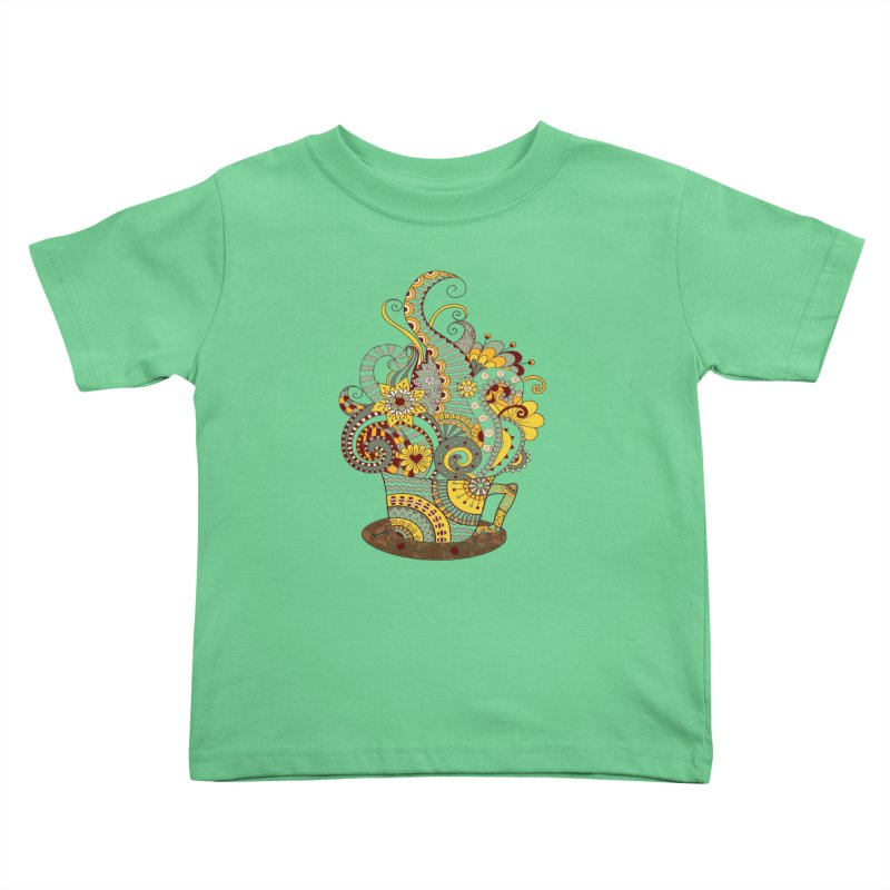 I Love coffee Kids Toddler T-Shirt by NadineMay Artist Shop