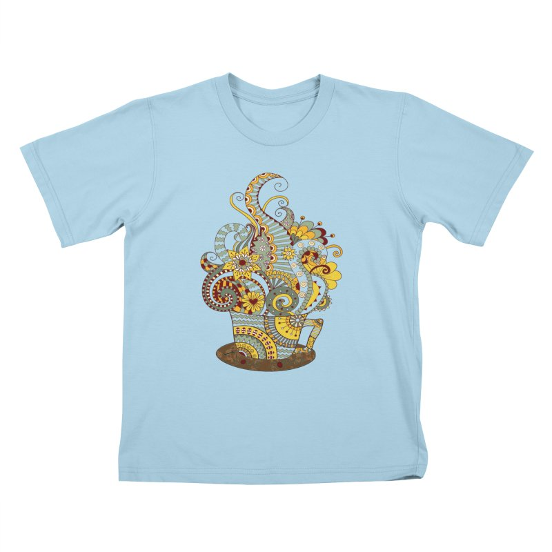 I Love coffee Kids T-Shirt by NadineMay Artist Shop