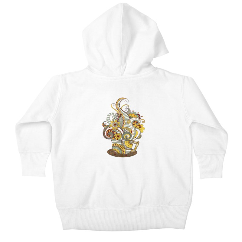 I Love coffee Kids Baby Zip-Up Hoody by NadineMay Artist Shop