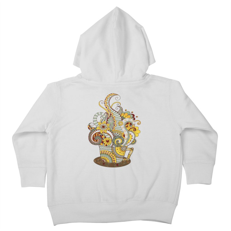 I Love coffee Kids Toddler Zip-Up Hoody by NadineMay Artist Shop