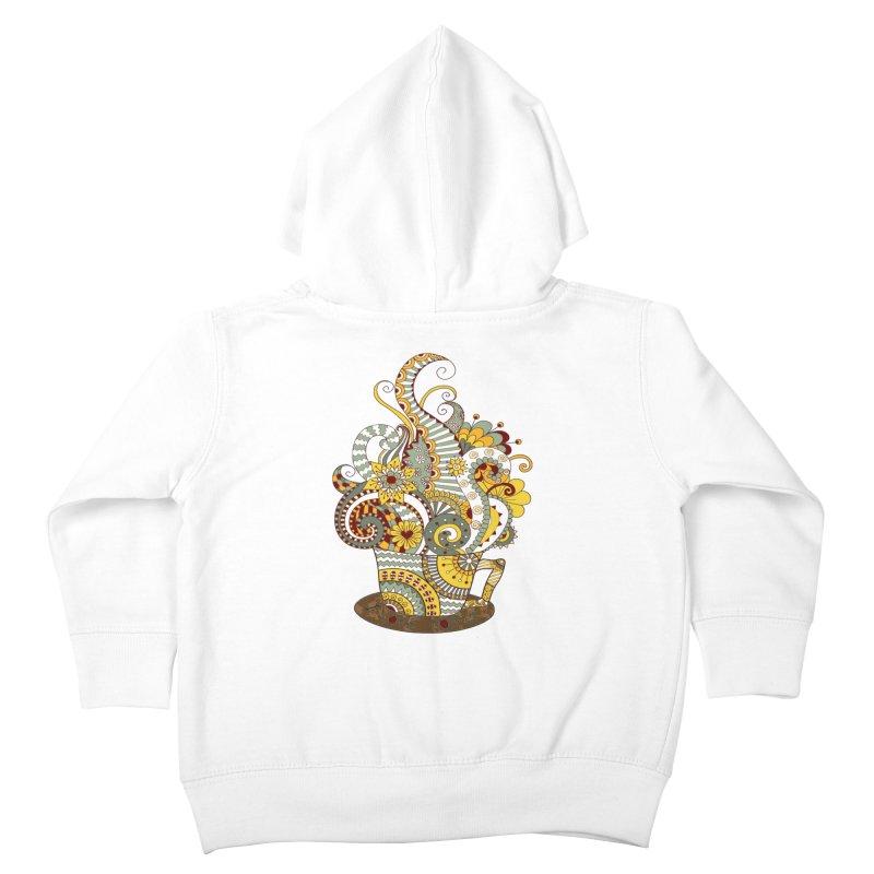 I Love coffee Kids Toddler Zip-Up Hoody by NadineMay Artist Shop