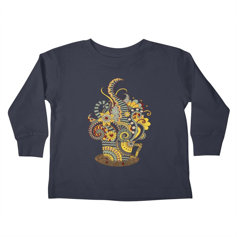 I Love coffee Kids Toddler Longsleeve T-Shirt by NadineMay Artist Shop