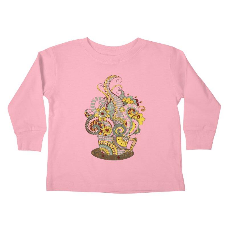 I Love coffee Kids Toddler Longsleeve T-Shirt by NadineMay Artist Shop