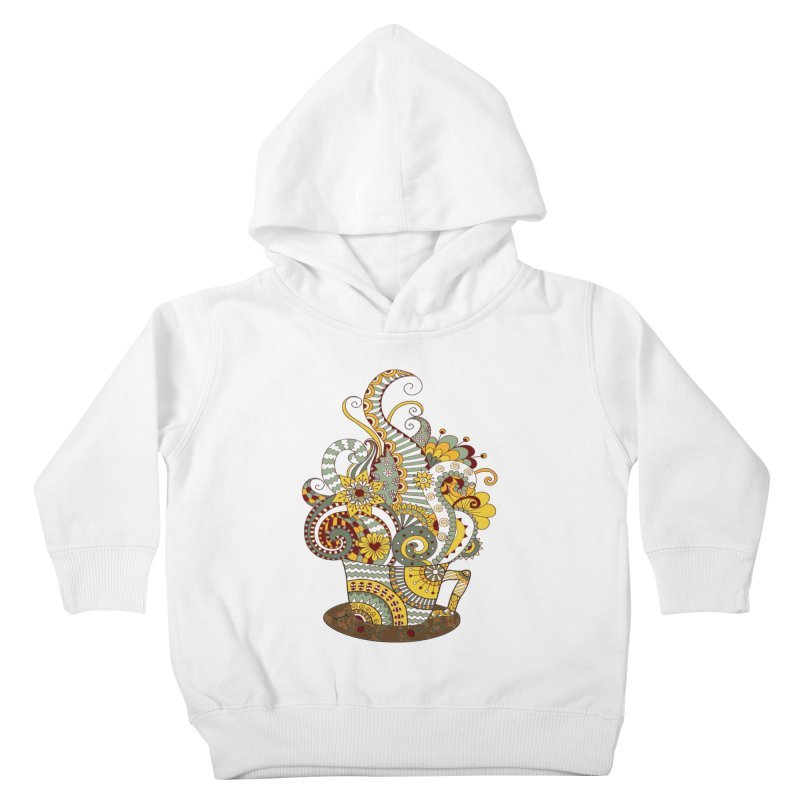 I Love coffee Kids Toddler Pullover Hoody by NadineMay Artist Shop