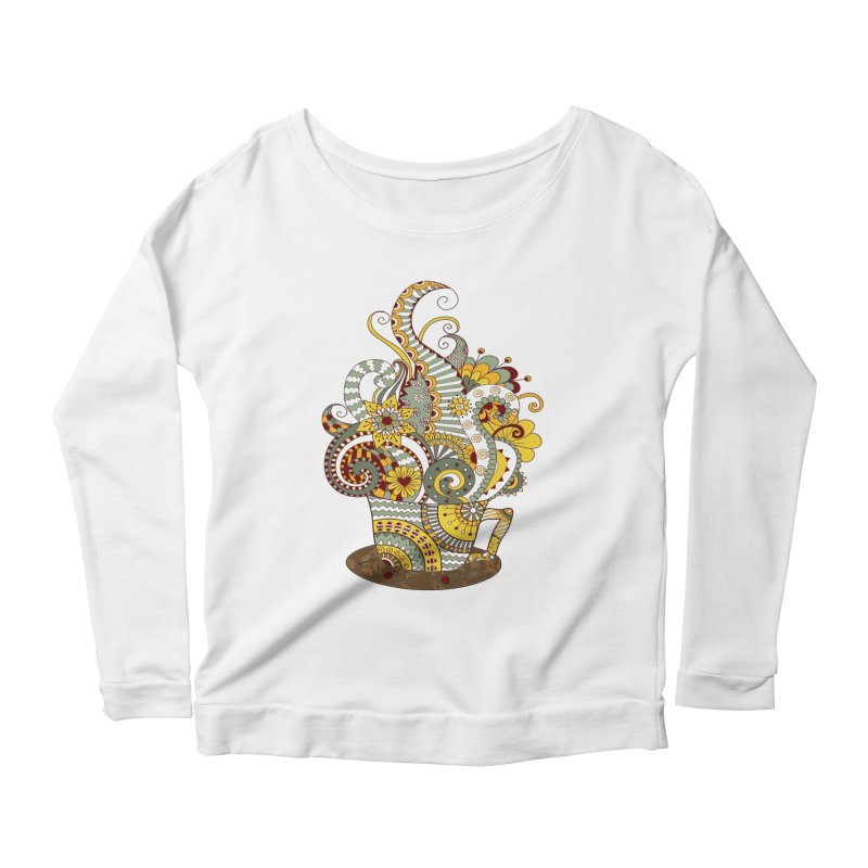 I Love coffee Women's Scoop Neck Longsleeve T-Shirt by NadineMay Artist Shop