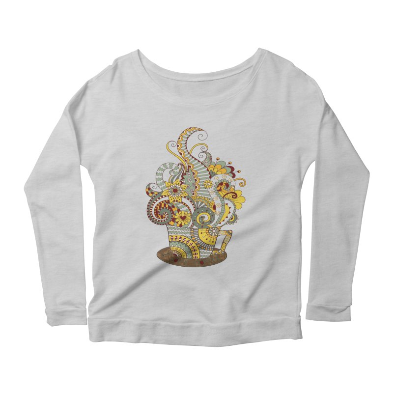 I Love coffee Women's Longsleeve Scoopneck  by NadineMay Artist Shop