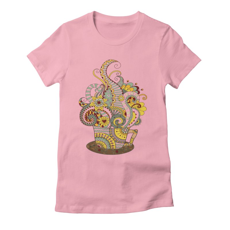 I Love coffee Women's Fitted T-Shirt by NadineMay Artist Shop
