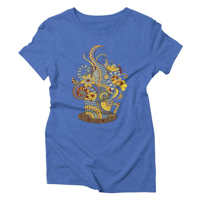 I Love coffee Women's Triblend T-Shirt by NadineMay Artist Shop