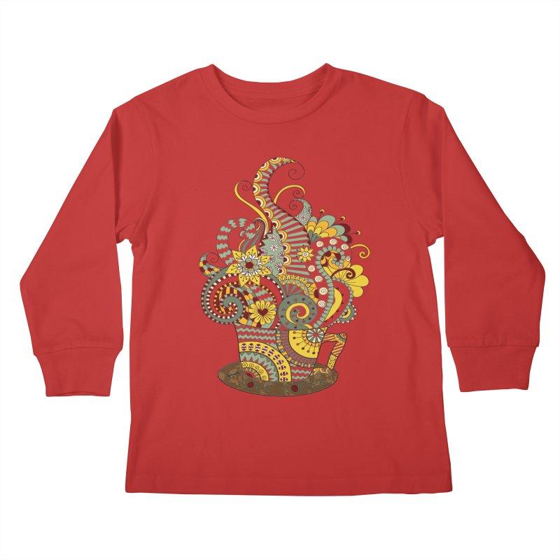 I Love coffee Kids Longsleeve T-Shirt by NadineMay Artist Shop