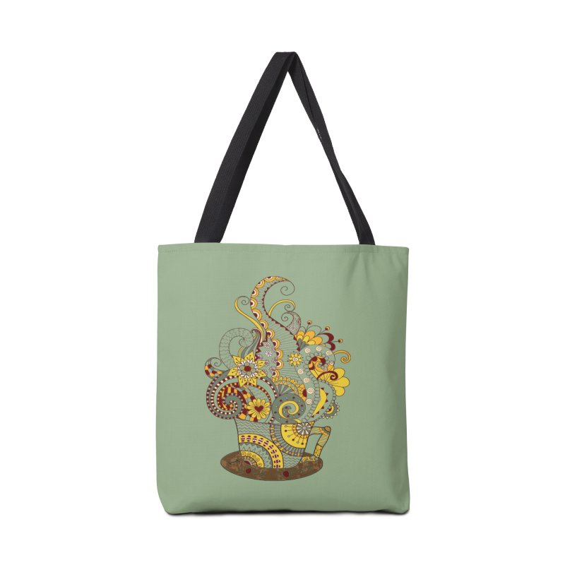 I Love coffee Accessories Bag by NadineMay Artist Shop