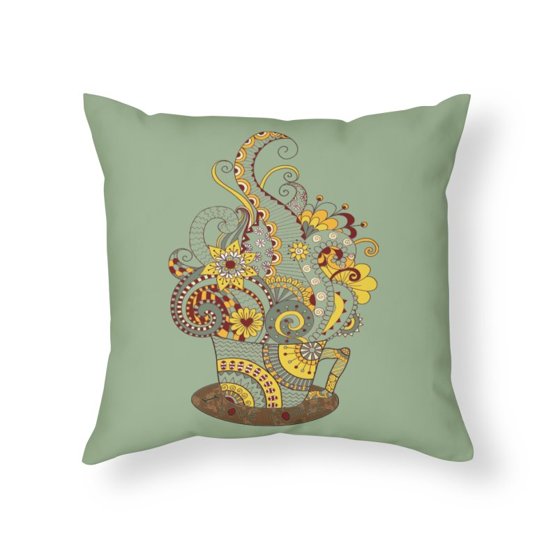 I Love coffee Home Throw Pillow by NadineMay Artist Shop