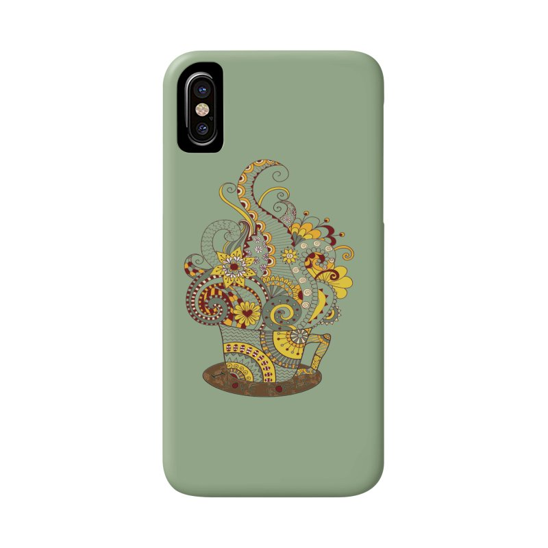 I Love coffee Accessories Phone Case by NadineMay Artist Shop