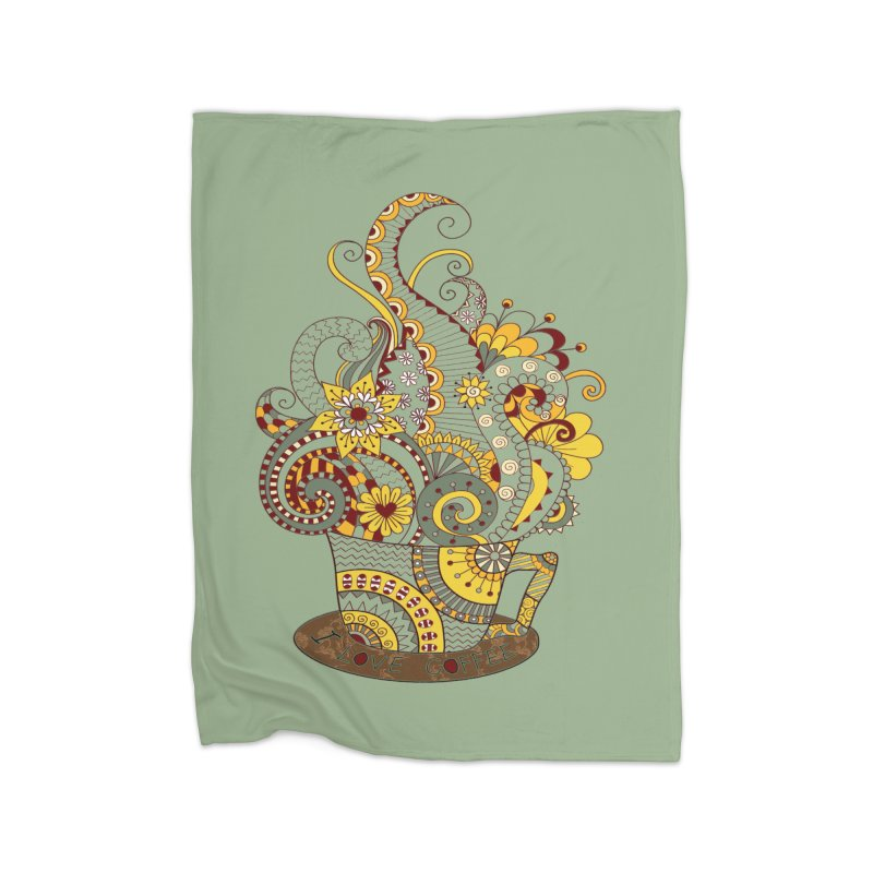I Love coffee Home Blanket by NadineMay Artist Shop