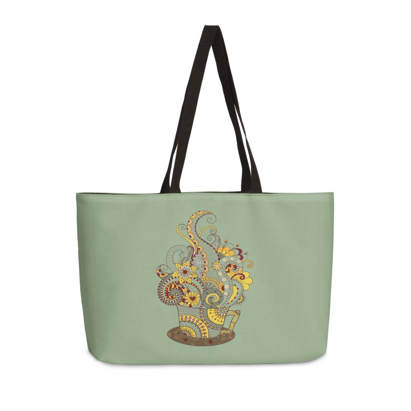 I Love coffee Accessories Weekender Bag Bag by NadineMay Artist Shop