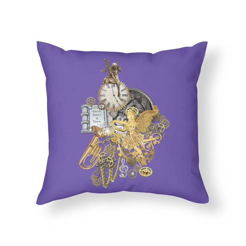 Steampunk-story telling Home Throw Pillow by NadineMay Artist Shop