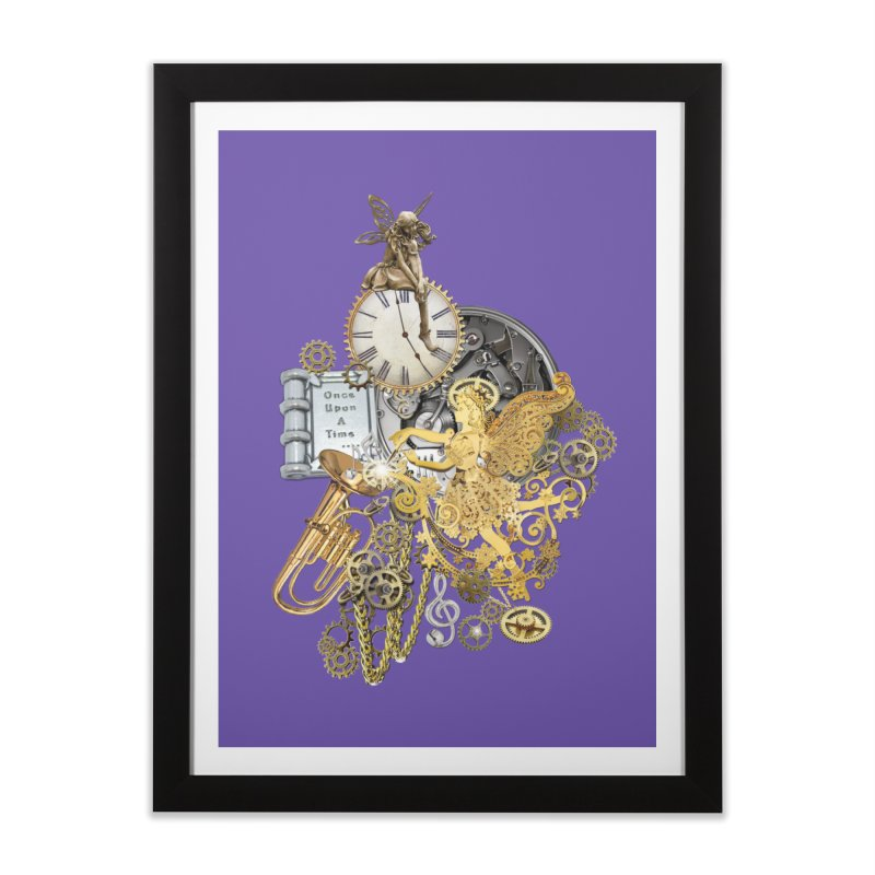 Steampunk-story telling Home Framed Fine Art Print by NadineMay Artist Shop
