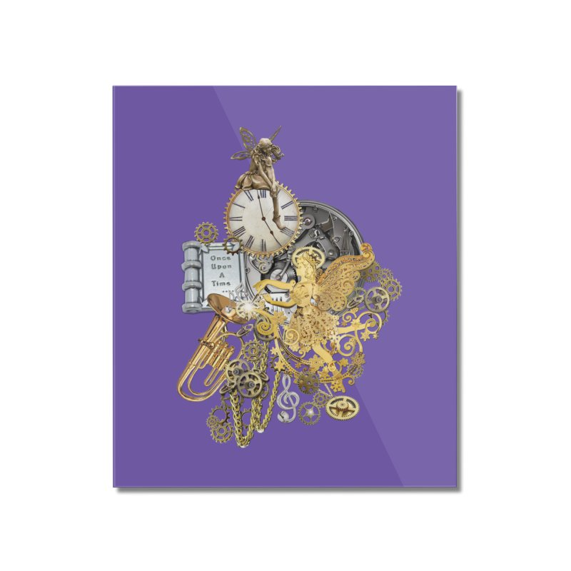 Steampunk-story telling Home Mounted Acrylic Print by NadineMay Artist Shop