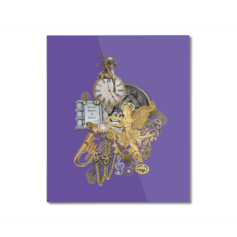 Steampunk-story telling Home Mounted Aluminum Print by NadineMay Artist Shop