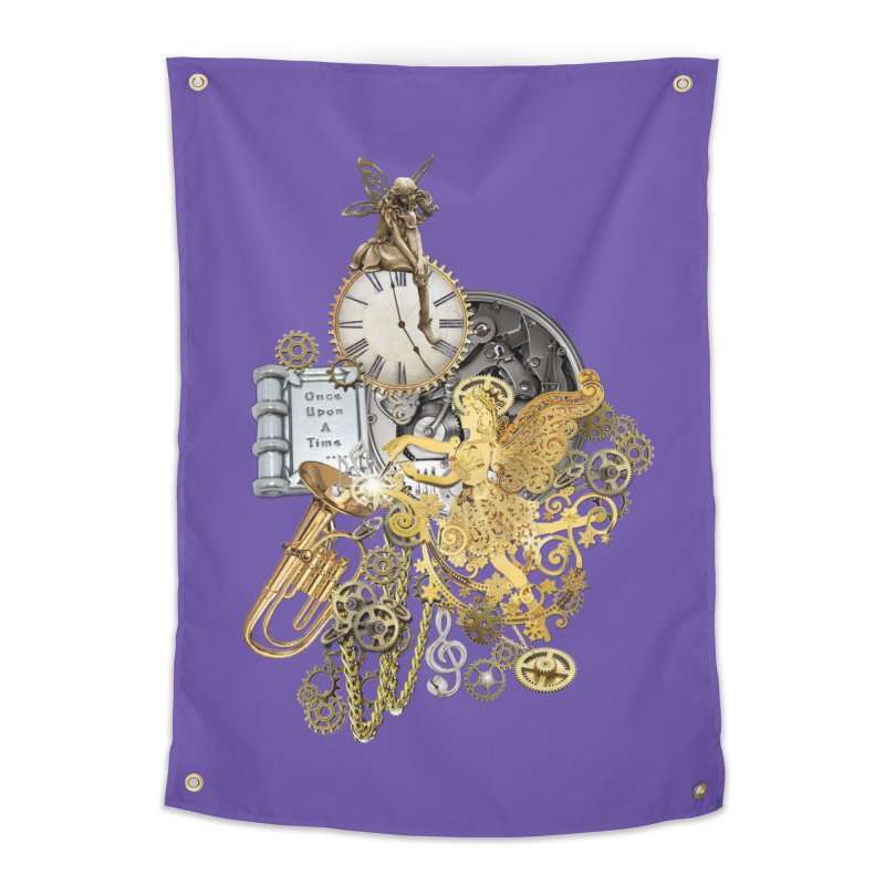 Steampunk-story telling Home Tapestry by NadineMay Artist Shop