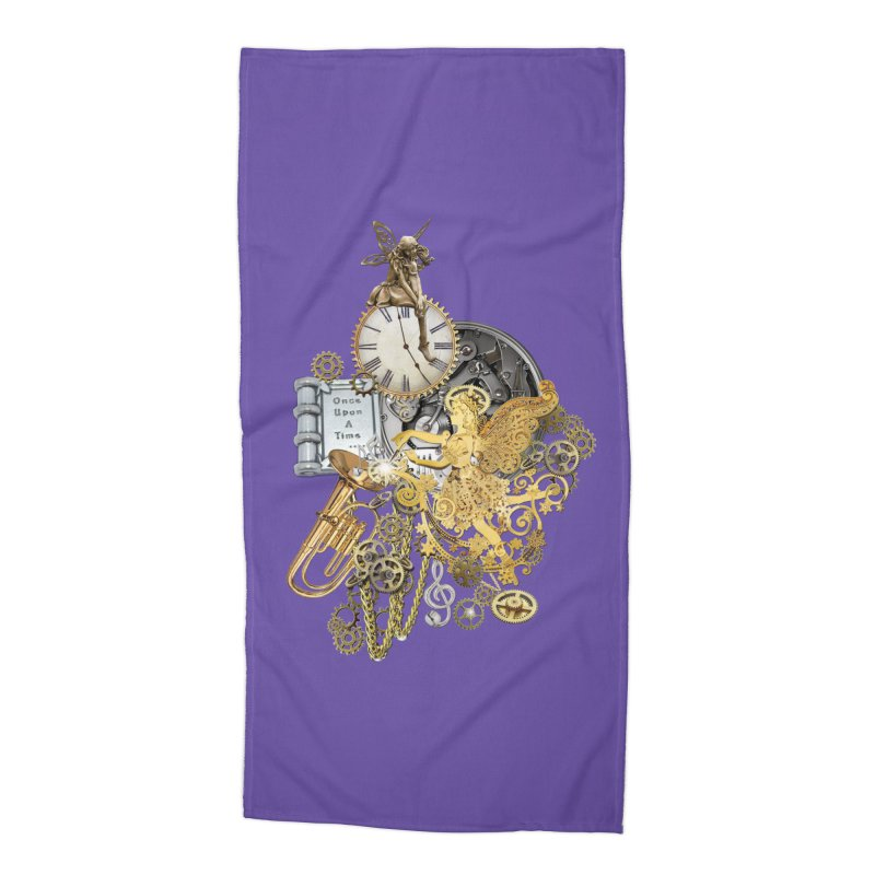 Steampunk-story telling Accessories Beach Towel by NadineMay Artist Shop