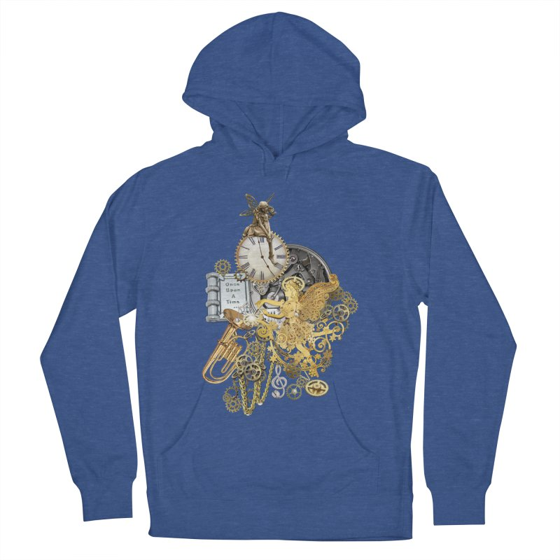 Steampunk-story telling Women's French Terry Pullover Hoody by NadineMay Artist Shop