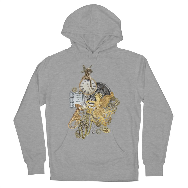 Steampunk-story telling Men's French Terry Pullover Hoody by NadineMay Artist Shop