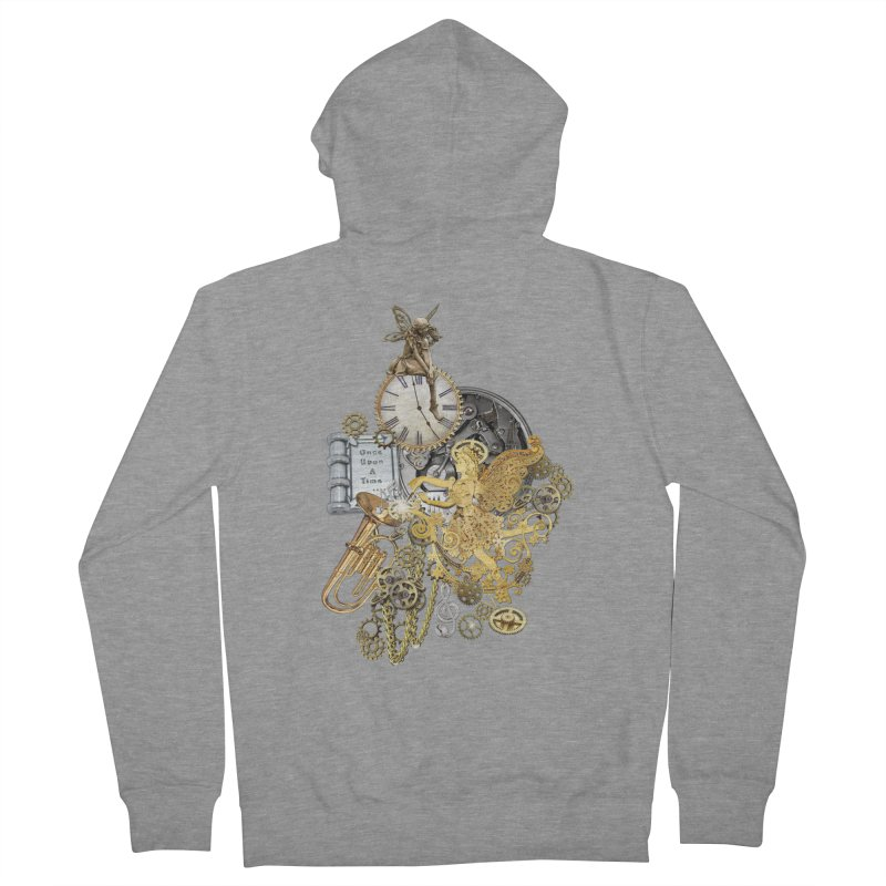 Steampunk-story telling Women's French Terry Zip-Up Hoody by NadineMay Artist Shop