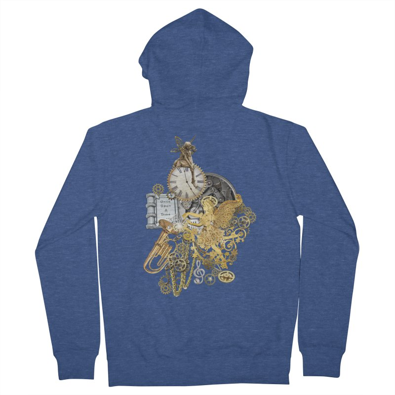Steampunk-story telling Men's French Terry Zip-Up Hoody by NadineMay Artist Shop