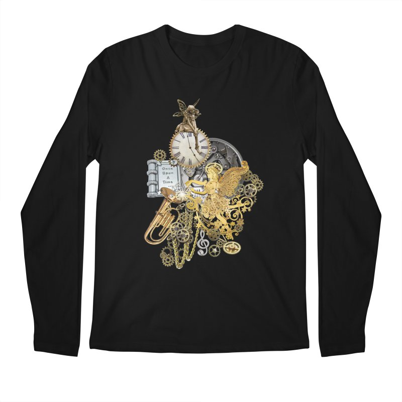 Steampunk-story telling Men's Regular Longsleeve T-Shirt by NadineMay Artist Shop