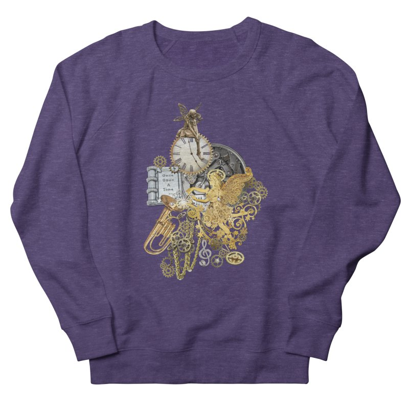 Steampunk-story telling Women's French Terry Sweatshirt by NadineMay Artist Shop
