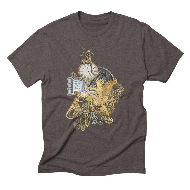 Steampunk-story telling Men's Triblend T-Shirt by NadineMay Artist Shop