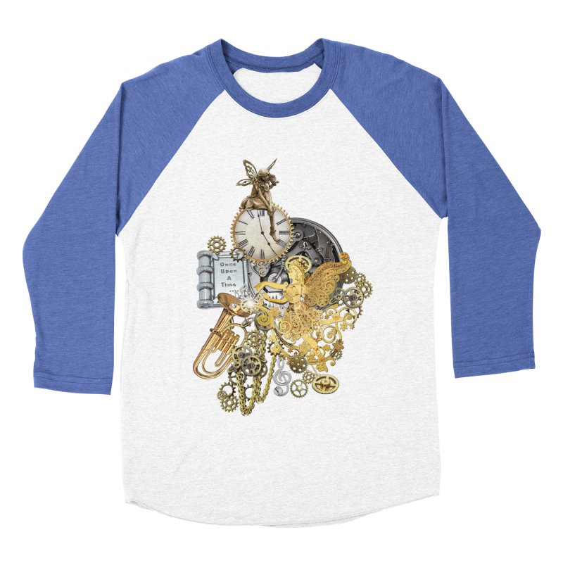 Steampunk-story telling Women's Baseball Triblend Longsleeve T-Shirt by NadineMay Artist Shop