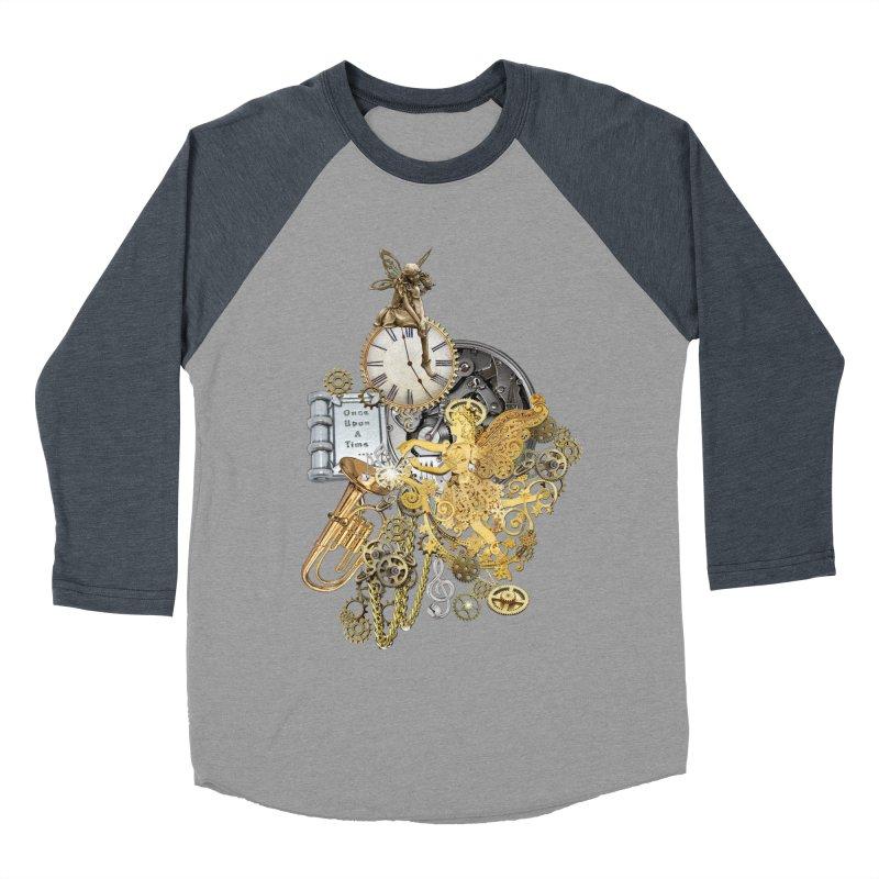 Steampunk-story telling Women's Baseball Triblend Longsleeve T-Shirt by NadineMay Artist Shop