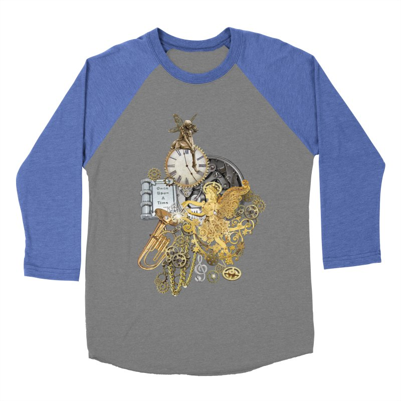 Steampunk-story telling Men's Baseball Triblend Longsleeve T-Shirt by NadineMay Artist Shop
