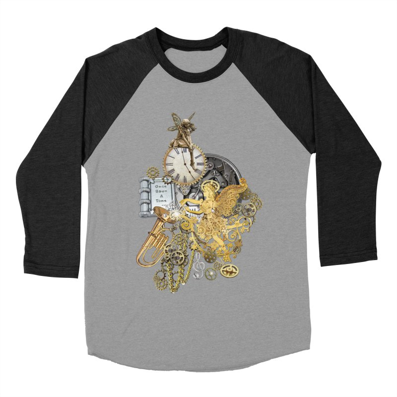 Steampunk-story telling Men's Baseball Triblend Longsleeve T-Shirt by NadineMay Artist Shop
