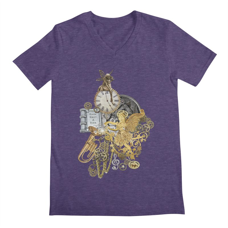 Steampunk-story telling Men's Regular V-Neck by NadineMay Artist Shop