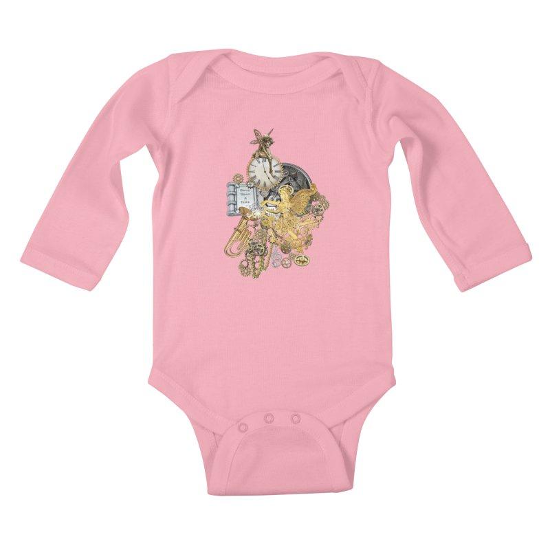 Steampunk-story telling Kids Baby Longsleeve Bodysuit by NadineMay Artist Shop