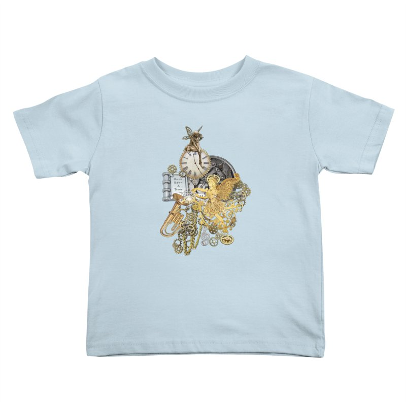 Steampunk-story telling Kids Toddler T-Shirt by NadineMay Artist Shop