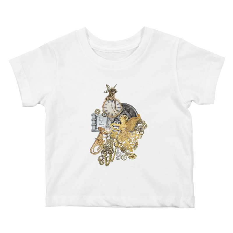 Steampunk-story telling Kids Baby T-Shirt by NadineMay Artist Shop