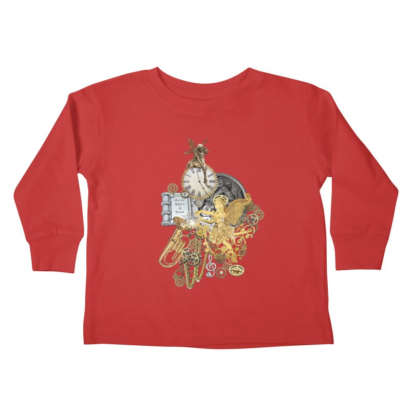 Steampunk-story telling Kids Toddler Longsleeve T-Shirt by NadineMay Artist Shop