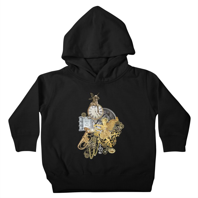 Steampunk-story telling Kids Toddler Pullover Hoody by NadineMay Artist Shop