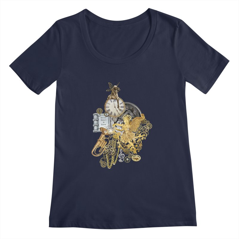 Steampunk-story telling Women's Scoopneck by NadineMay Artist Shop